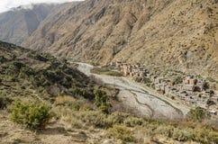 Горы атласа River Valley Ourika высокие marrakesh Марокко стоковое изображение