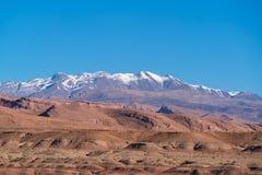 Горы атласа, известные горы Марокко Стоковые Фотографии RF