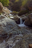 Горы атласа и водопад Марокко Стоковая Фотография RF
