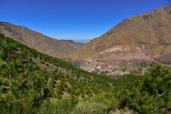 Горы атласа, Марокко, ландшафт природы Стоковое фото RF