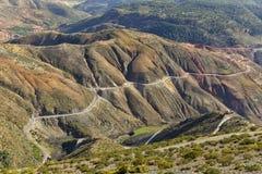 Горы атласа, Марокко, вид с воздуха Стоковое Изображение