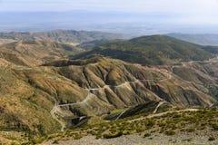 Горы атласа, Марокко, панорамный взгляд Стоковое Изображение RF