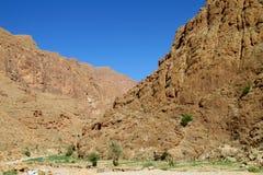 Горы атласа около ущелья Todgha Стоковые Изображения