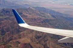 Горы атласа от самолета Стоковое Изображение