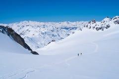 Горы Альпов в зиме Стоковая Фотография