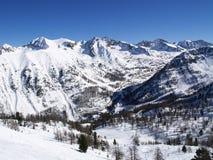 горы белые Стоковая Фотография