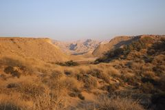 Горы вдоль Персидского залива в Иране Стоковое фото RF