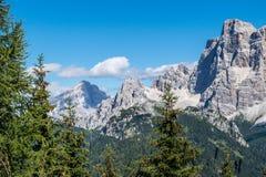 Горы венето Италия Dolomiti Стоковое фото RF