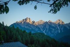 Горы венето Италия Dolomiti Стоковое Изображение RF