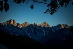 Горы венето Италия Dolomiti Стоковые Фото