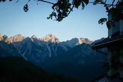 Горы венето Италия Dolomiti Стоковые Изображения