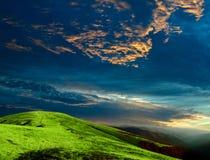 горы вечера стоковые изображения rf