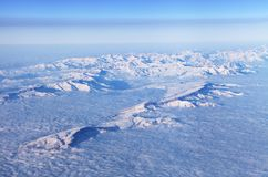 Горы, взгляд от самолета стоковая фотография rf