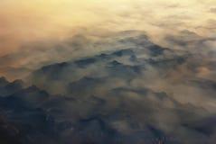 горы воздуха обозревая qinling Стоковое Изображение