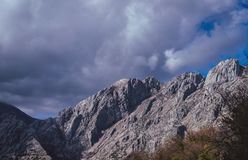 Горы вокруг залива Kotor стоковое фото rf
