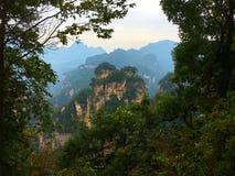 Горы воплощения горы Шани Tianzi, передняя часть соотечественника Zhangjiajie Стоковые Фото