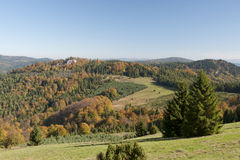 Горы во время осени Стоковое Изображение