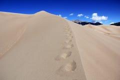 Горы встречи дюн Стоковая Фотография RF