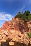 Горы выкапывают для использования Стоковые Фото