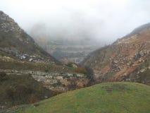 Горы в Азербайджане, khinalig Стоковое фото RF