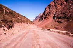 Горы в Андах, Сантьяго, Чили стоковое изображение rf