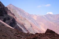 Горы в Андах, Сантьяго, Чили стоковое фото rf