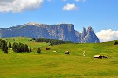 Горы в Альпах Стоковые Фото