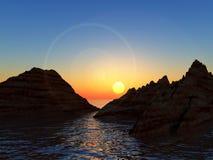 Горы в воде 4 Стоковое Фото