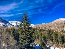 Горы в зиме Стоковые Фотографии RF