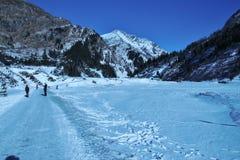 Горы в зиме, Sportgastein, Австрия, Европа Стоковое Изображение RF