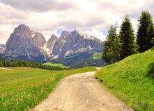 Горы в Италии, доломиты Стоковое Фото