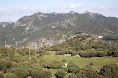 Горы в национальном парке Grazalema Стоковая Фотография