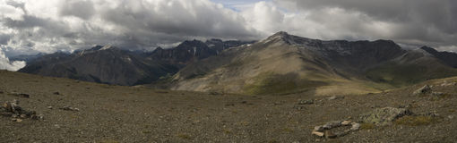 Горы в национальном парке яшмы Стоковое Изображение RF