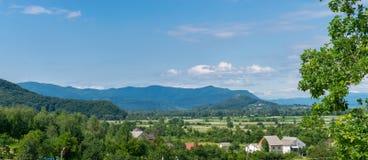 Горы в области Zakarpattia Украины Стоковая Фотография RF