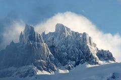 Горы в облаках Стоковая Фотография