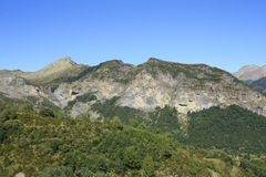 Горы в долине Tena, Пиренеи Panticosa Стоковая Фотография RF