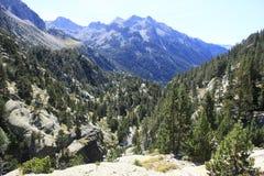 Горы в долине Tena, Пиренеи Panticosa Стоковые Изображения
