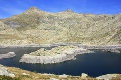 Горы в долине Tena, Пиренеи Panticosa Стоковое фото RF