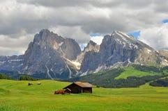 Горы в доломитах, Италии стоковое изображение