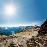 Горы в парке стоковая фотография rf