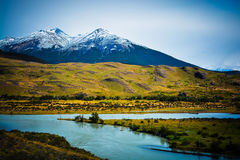 Горы в Патагонии стоковые фото