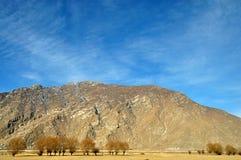 Горы в предыдущей весне, Лхасе, Тибете Стоковое фото RF