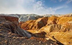Горы в пустыне стоковые фотографии rf