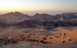 Горы в пустыне Petra Стоковое Изображение RF