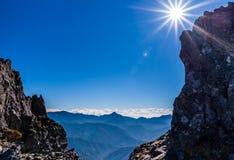 Горы в рамке Стоковые Изображения