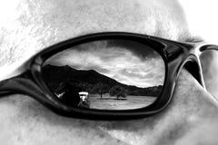 Горы в стеклах Стоковое Фото