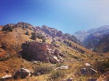 Горы в Узбекистане Стоковое Изображение RF