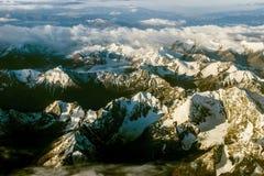 Горы в утре Стоковые Фото