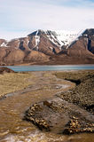 Горы в Шпицбергене, Свальбарде, Норвегии Стоковая Фотография