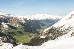 Горы в лыжном курорте Zillertal - Tirol Стоковые Изображения